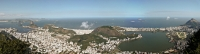 Panorama from Christ the Redeemer statue, a World Heritage Site