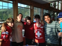 Camp Hazen: Marcos Vinicius (left) with friends