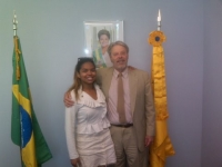 Hartford: Pauline Batista with Ambassador Dunlap