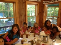 Camp Hazen: Counselor Pauline Batista with campers