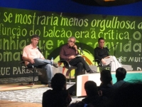 Paraty: FLIP, including Chico Buarque (right)